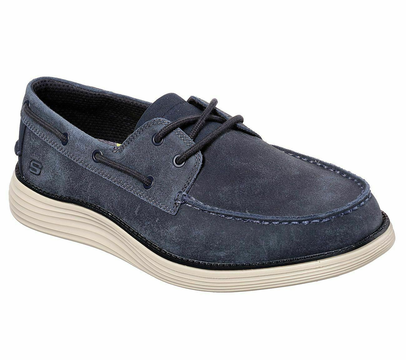 Skechers 65894 NVY Navy Mens Casual Comfort Boat schuhe