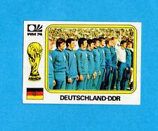 MONACO/MUNCHEN 74-PANINI-Figurina n.114- SQUADRA/TEAM -GERMANIA DDR-Recuperata
