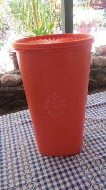 Vintage Tupperware Orange Large  tall Servalier Canister