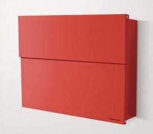 Radius Design Briefkasten Postkasten Letterman XXL 2 rot ...