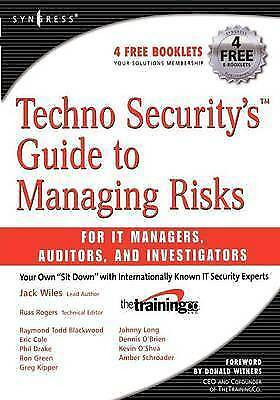 1 of 1 - Techno Security's Guide to Managing Risks for IT Managers, Auditors and Investi