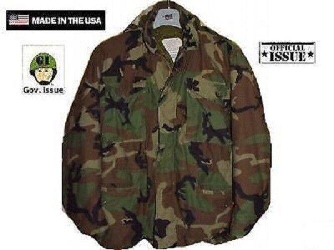 US Army Genuine Issue M65 Jacke Feldjacke WCP woodland camouflage Medium X Short