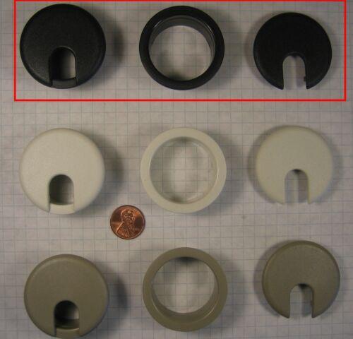 "1-1//2/"" 38.5mm BORE DIAMETER PLASTIC SUGATSUNE #S445 DESK CABLE GROMMET BLACK"