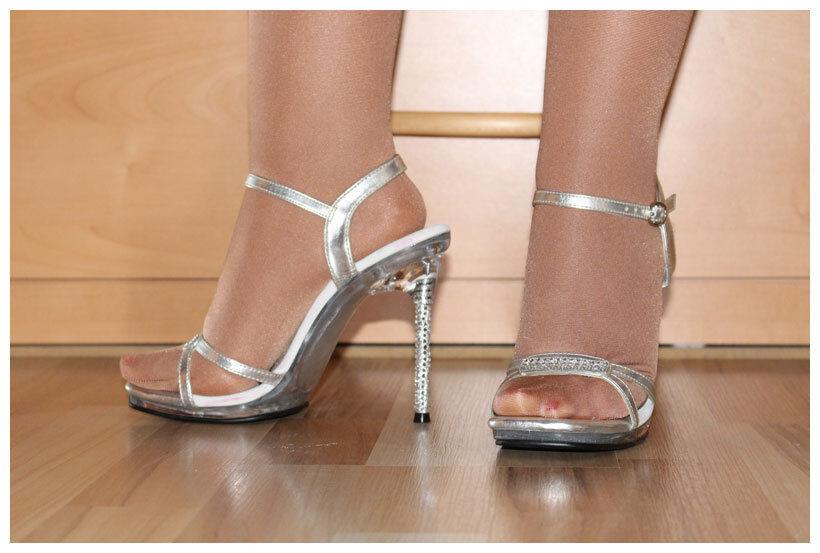 High Heels Stilox Sandaletten Gr. 36 / US6 Stilox Heels Monroe-11 silberfarben (#2145) ca702c