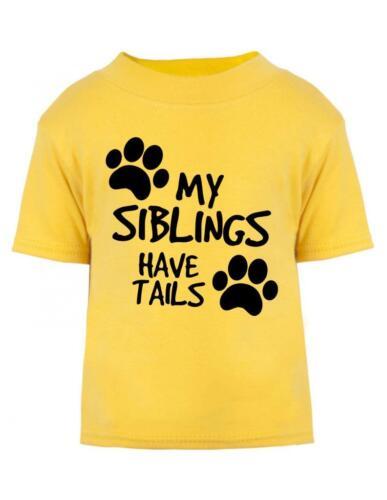 Mis hermanos tienen colas del Niño Camiseta//Camiseta Bebé