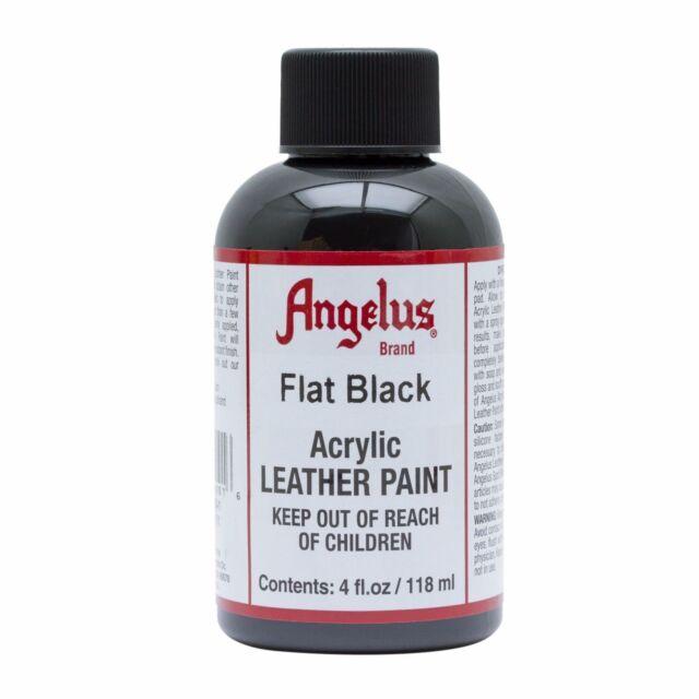 Angelus Flat Black Acrylic Leather