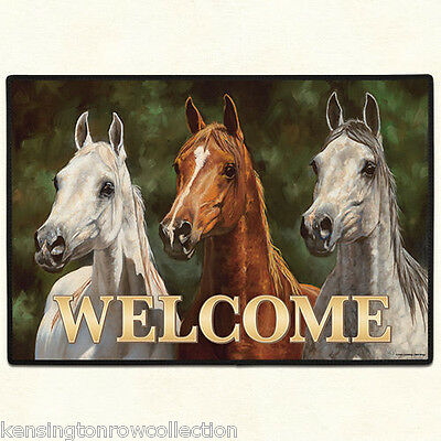 Door Mats Quot Wild Horses Quot Doormat Rubber Backed Horse