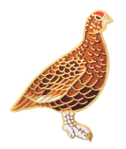 Grouse-Game-Bird-Pin-Badge
