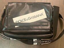 DOLCE /& GABBANA Nappa Leather Logo Briefcase Bag File Folder Blue 04156