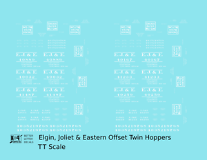 K4 O Decals Elgin Joliet and Eastern Twin Hopper White