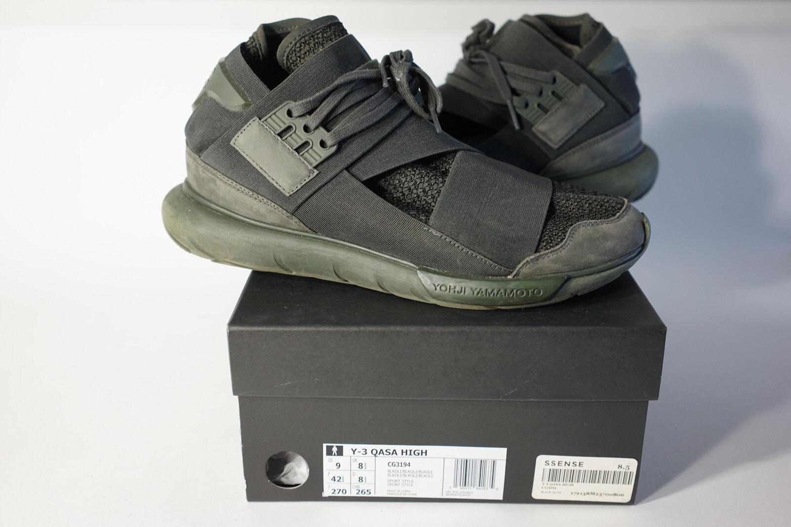 Adidas y-3 qasa high - cg3194 schwarze olive sneaker sneaker sneaker männer größe 9. 3d6733