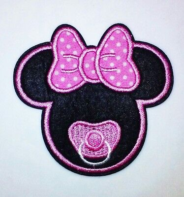 "Baby Minnie Mouse Patch Crawling Embroidered Iron Sew On Applique 3.00/"" X 2.50/"""