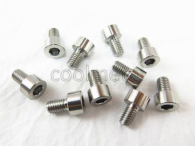 4pc Titanium tapered Bolts M10x25x1.25mm Allen hex Socket Cap head  metric Screw