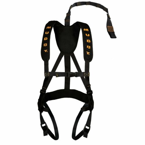 Black Muddy Outdoors Magnum Pro Padded Adjustable Treestand Harness System