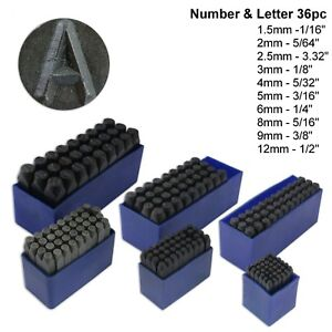 image is loading 36pc number amp letter punch set alpha numeric