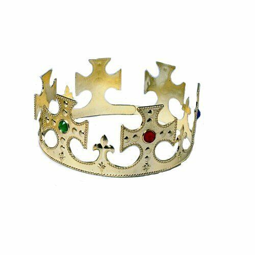 Plastic Gold King Crown