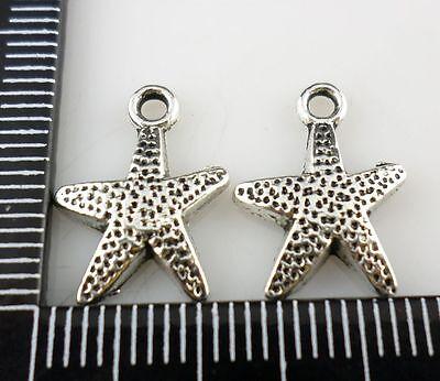 20pcs Tibetan silver DIY Starfish Charms Pendants 12x16mm  (Lead-free)