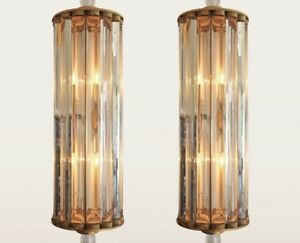 Small pocket chandelier, crystal glass with copper fixture, 1940s
