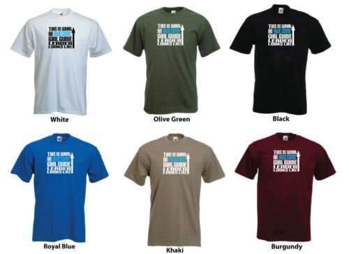 Unisex t-shirt /'This is What an Awesome Girl guide leader Looks Like/' Mens