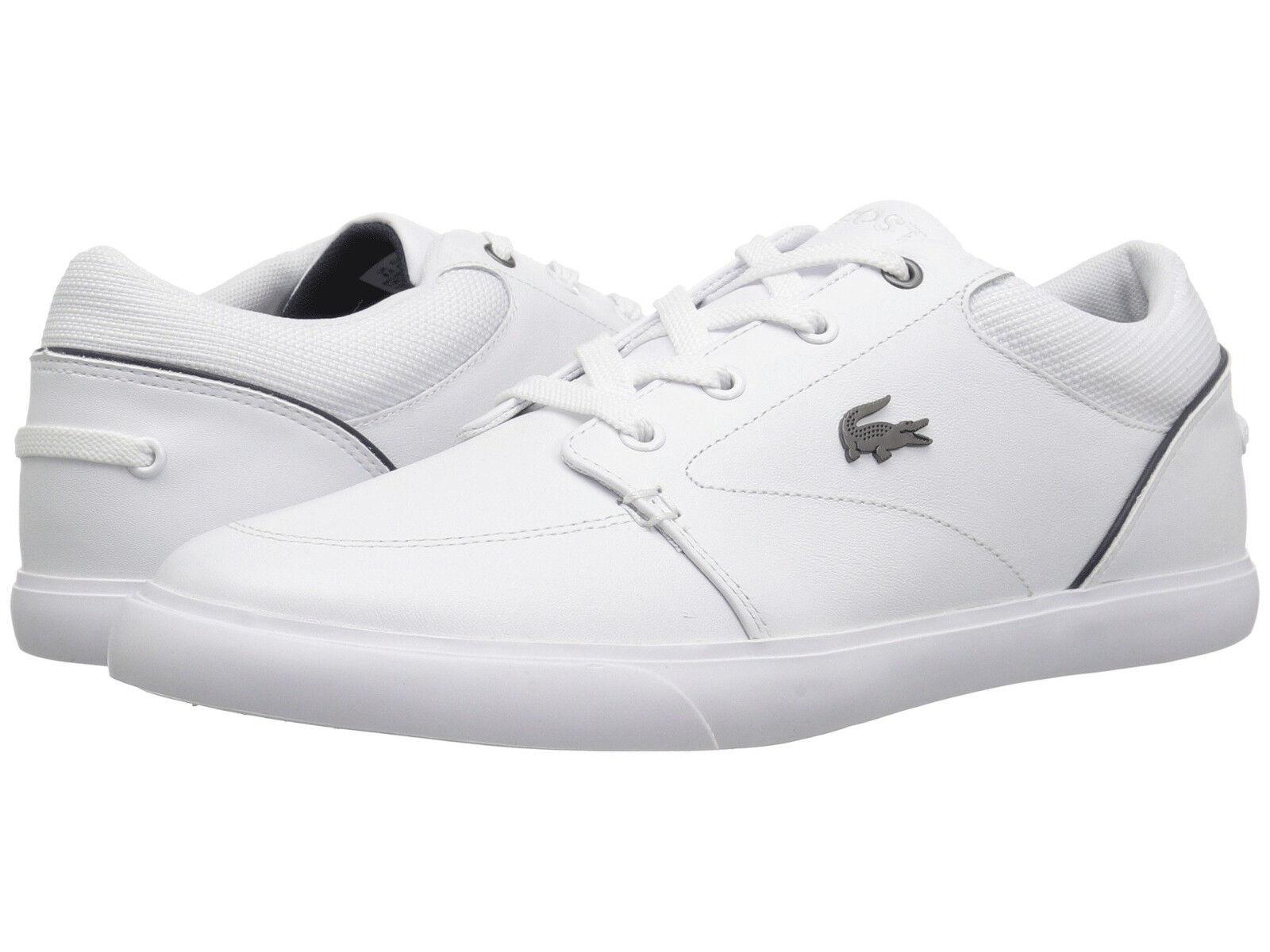 Men Lacoste Bayliss Turnschuhe 7-36CAM0007042 Weiß Navy 100% Original Brand New