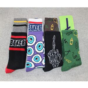 Skeleton-Eyes-Baker-Unisex-Tube-Thick-Socks-Skateboard-Graffiti-NEW