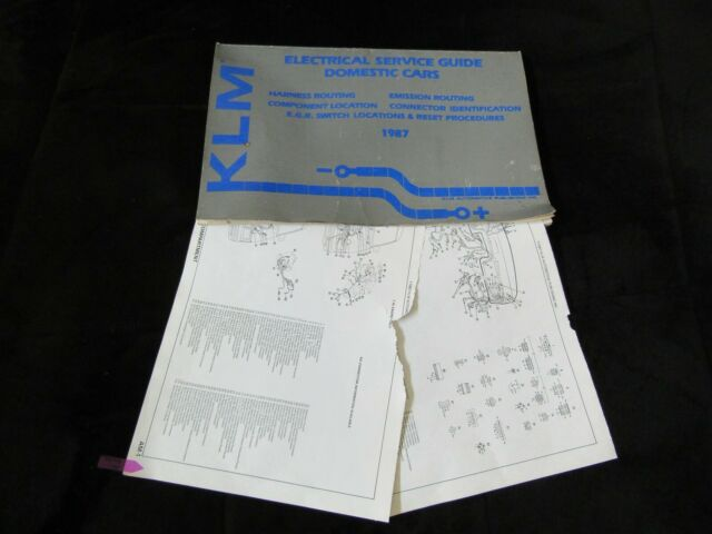 1987 Dodge Charger Omni Plymouth Horizon Wiring Diagrams Manual Sheets Set