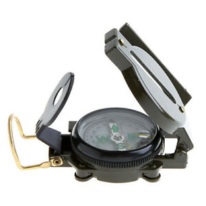 AU_ BL_ Military Outdoor Camping Hiking Army Survival Marching Metal Compass Ser