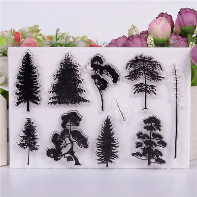 TREE FOREST CLEAR SILICONE STAMP SEAL DIY SCRAPBOOKING CARD PHOTO ALBUM FUNNY