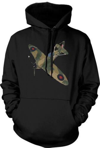 Spitfire Green Cam pop art - Quote  - Mens Hoodie