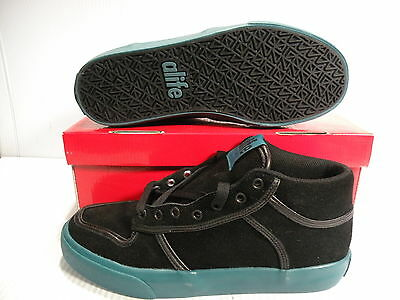 ALIFE EVERYBODY MID SUEDE SNEAKERS MEN SHOES BLACK/GREEN *91EVMBP1 SIZE 11 NEW