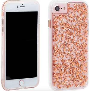 Case Mate Karat Clear Rose Gold Flake Dual Protection Case Apple ... 0244f8560
