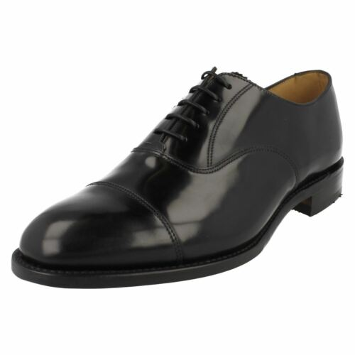 Hommes Loake Cuir Chaussures Poli Oxford Toe Bout En 747b Lacets Noir Formelle 11qgdrwf