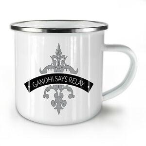 Relax Keep Calm Slogan NEW Enamel Tea Mug 10 oz | Wellcoda