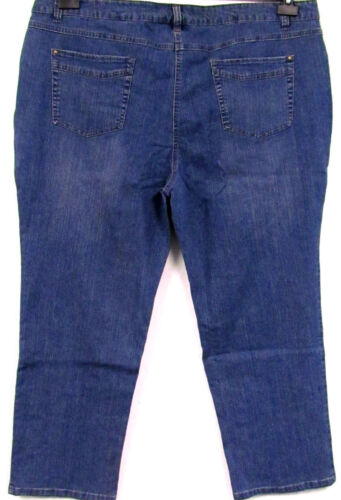 NUOVO Donna Jeans Relax Blue Blu Stretch Denim 5 Pocket grandi dimensioni misure grandi 56