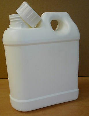 40 X Plastic JERRY CANS 1 Litre WITH CAPS - with handle - container