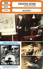 Fiche Cinéma. Movie Card. Executive action (USA) 1973 David Miller