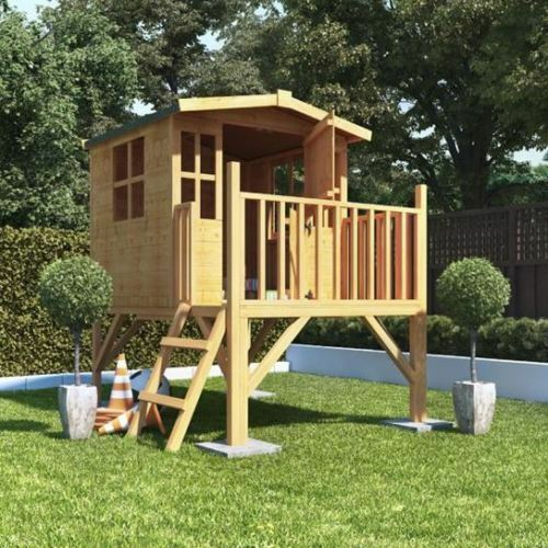 Xxl Play Tower Tree House Stilt Kids Playhouse Sandpit