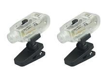 "2pc 1-3/4"" Super Bright One White LED Clip On Flashlight Magnetic Base FL3405WM"