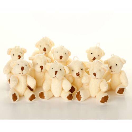 Neuf-marron /& blanc ours en peluche-petit mignon peluche cadeau anniversaire noël