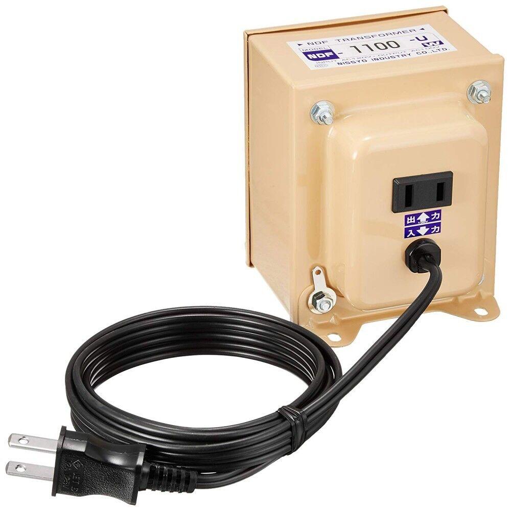 Nissyo Convertisseur de tension Down transformateur 120 V à 100 V 1100 W Enroulé EMS Japan
