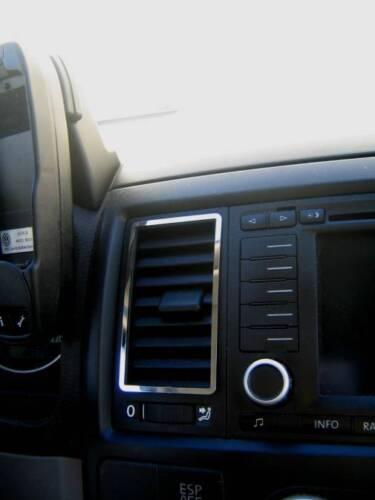 D VW T5 Chrom Rahmen für Lüftungsschacht Mitte Edelstahl poliert Typ 2