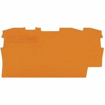 Automation, Motors & Drives Hearty Wago 2002-1392 0.8mm End And Intermediate Plate For 2001-1300 Series Orange Finely Processed