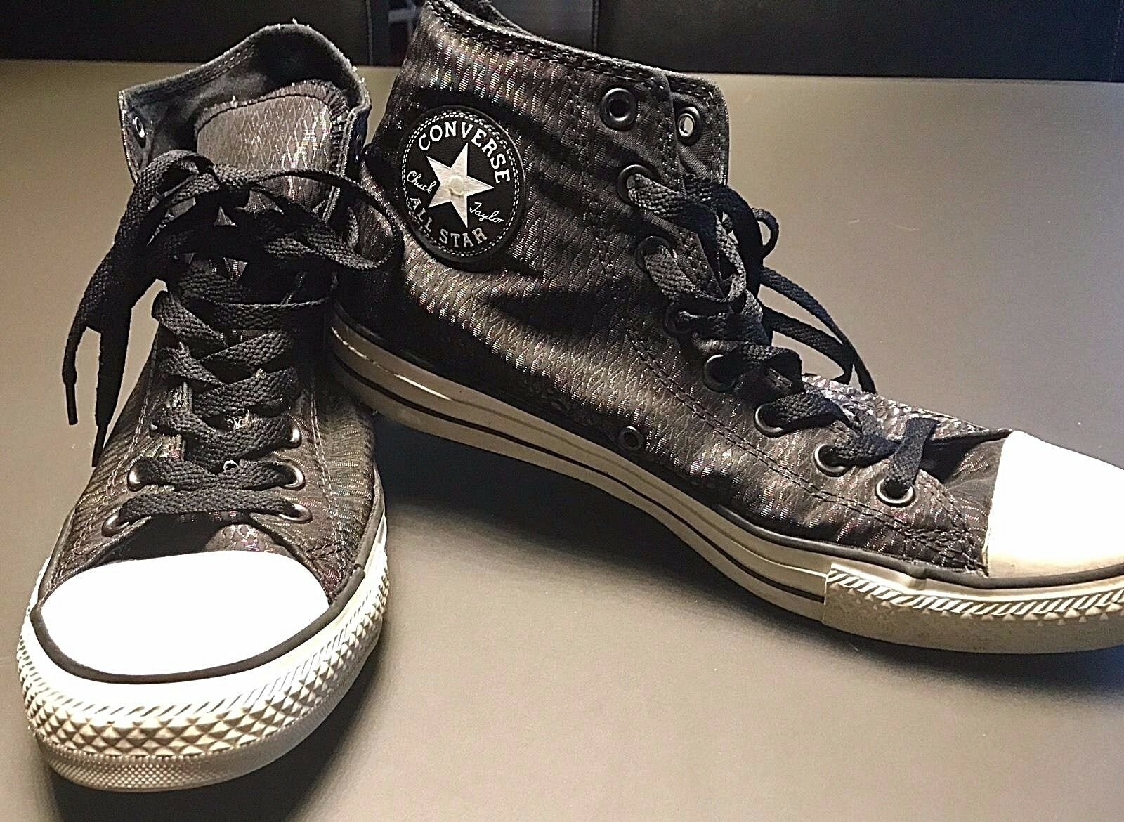 Converse All Star Chuck Taylor Metallic Peacock Hi Top Sneakers Women's Size 11