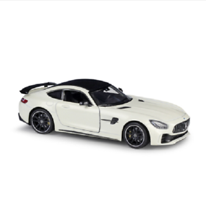 Welly-1-24-Mercedes-Benz-AMG-GT-R-GTR-Diecast-Model-Racing-Car-New-in-Box-White