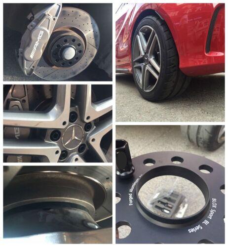 4 15mm Black Wheel Spacers 5*112 for Mercedes C220 C230 C240 C250 C280 C300 C320