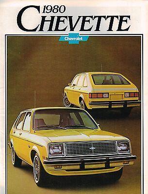 Farbe Chart Scooter,hatchback,' 80 1980 Chevy Chevette Broschüre/katalog Mit