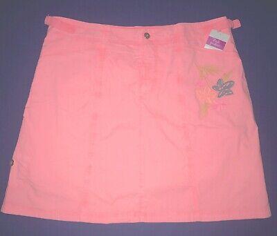FRESH PRODUCE Large Flamingo Pink PROMENADE STRIPE Marina SKIRT $59 NWT New L
