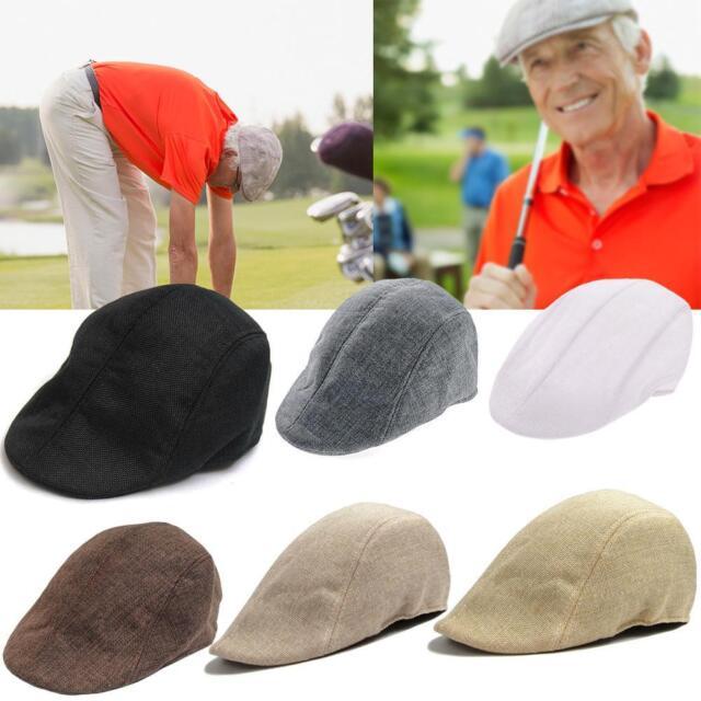 Cabbie Newsboy Cap Men Plaid Ivy Hat Golf Driving Summer Sun Flat Vintage New PE