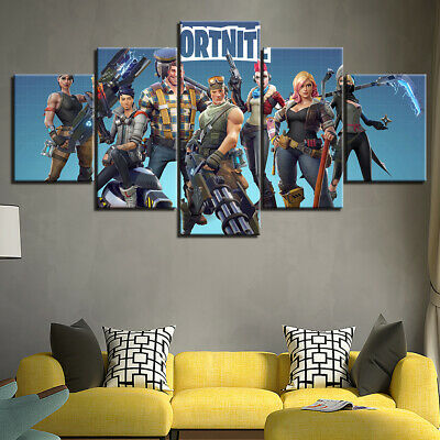 framed fortnite game canvas wall art poster print gamer