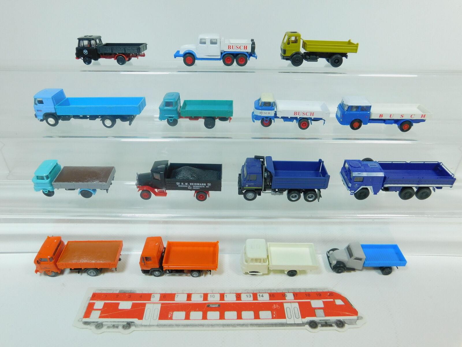Bn197-1 x H0   1 87 Autocarro  IFA BUSCH + MAN THW ecc. ( SES,RMM   Roskopf )